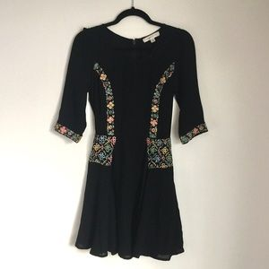 Topshop | Kate Moss 3/4 Black Embroidered Dress 4